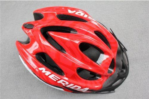 NEW Cycling Bicycle MERIDA Adult Mens Bike Helmet Red